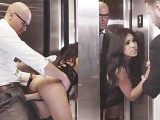 Plotting GF cheating with her big-dicked boss in an elevator