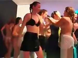 Lusty Party Hookers Brigandage Wet Clothes On Stage