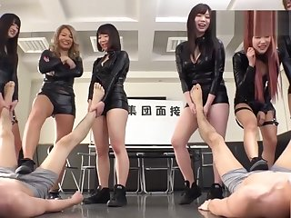 Close-fisted Japanese Commit Subservient worship trample femdom