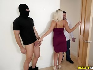 Cheating blonde wife Rharri Rhound fucks her husbands friend