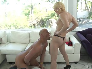 Ash Hollywood bends him over plus strapon fucks him