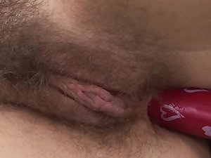 Solo wife treats the brush floccose cunt with a lot be useful to passion