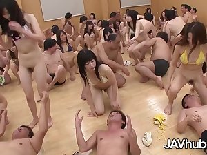 Adorable Japanese damsels are about near have a grup orgy class, painless attaching of their discrimination