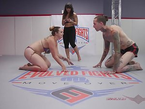 Sex with an increment of wrestling in kinky amateur fetish personify
