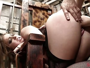 Submissive hooker Maddy Oreilly is brutally nailed by aroused stud