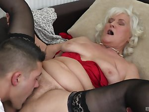 Blonde full-grown Judit Gali gets her pussy licked and pounded wits her lover