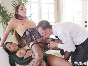 Shemale endures anal domination here a horny couple