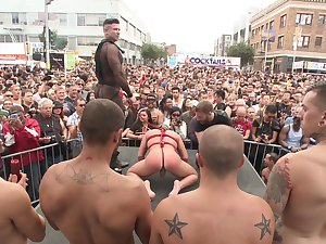 Gay parade and anal orgies for rub-down the naughty twinks