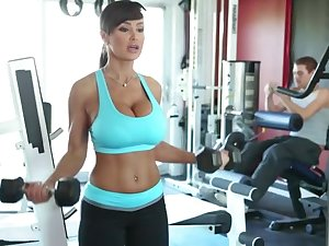 Lisa Ann Exercises - lord it over MILF pornstar has workout with cock