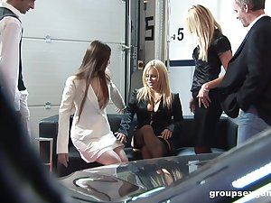 Horrific group sex with oomph models Alicia Rhores and Claudia Rossi