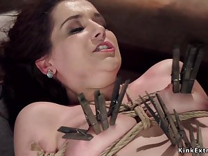 Darkhaired is toyed there gyno chair bondage