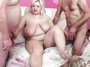 Fucking and wet mature holes drilling in busty well aged ladies video
