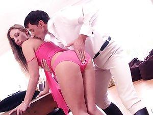 Piping hot boyfriend drills deep perfectly holes of sexy Morgan Moon