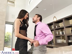 Tall Latina babe loves being the aggressor and that girl can fuck dementedly