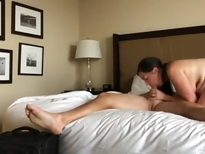 Sexy wife with hot body delightful her new Mr Big brass for promotion