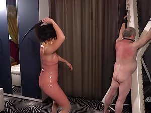 Latex Governess abuses Her Whipping Old crumpet ft/ Mistress Lucy Khan