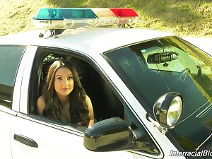 Sexy and hot Eliza Ibarra in training porn motion picture about slutty cops
