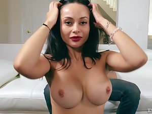 Swart haired bitch, Crystal Rush is grand the best blowjob ever to the brush lovely boyfriend