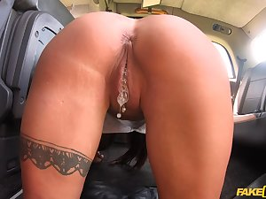 Crazy shafting in a cab with hot ass with the addition of tits pornstar Nobles Jasmine