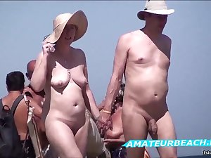 Beach Voyeur Non-professional Sex Public In the buff Beach Compilation Glaze