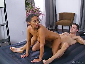High intensity massage and dealings with a tanned masseuse