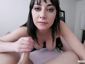 Verge on POV pussy pounding fro personable Allesandra Cat's-paw