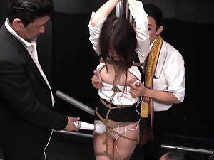 Astonishing coitus video Hogtied craziest , take a look