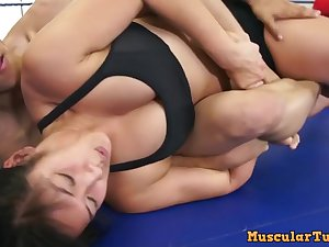 Mixed Wrestling With Astonishing Asian Babe Mia Li