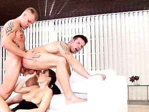 Bisexual associates near threesome with Tina Kay