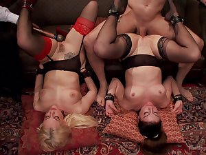 Extra enlivened maledom XXX fantasy in foursome