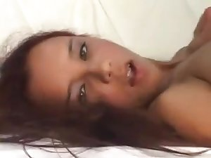 Clever cutie takes a cock all a catch way into her asshole