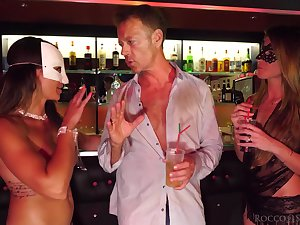 The ladies man picks up two girls in the club and personal property turn sexual enduring