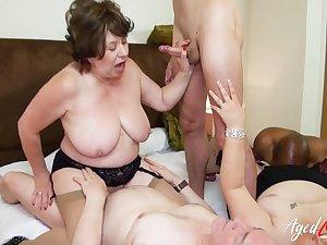 AgedLovE British Matures Gangbang Sexual Strip