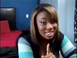 Raunchy Black Girl Enjoys Threesome Shagging