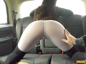 Horny ebony Marina Maya teases the driver and gets his the better
