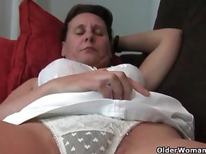 Mature, Euro women, Emenuelle, Inge and Sabine are often masturbating in front be advantageous to the camera