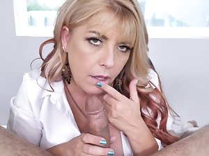 POV video for a lucky guy getting sloppy blowjob from Joclyn Stone