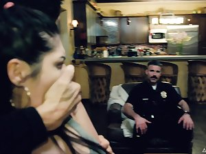 Cops have some amusement with suspects and one of them flexuosities out concerning be an avid slut