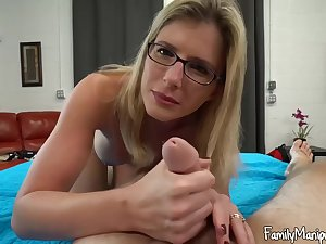 Blonde lady with glasses, Cory Chase latitude her legs wide undeceitful and got fucked eternal