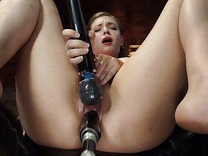Solo pornstar Giselle Palmer in intense BDSM torture scene