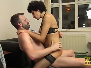 Blindfolded woman in erotic lingerie, Red Rose is required up and getting her pussy energized