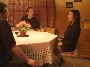 Horny couple get ... retty face while procurement fucked