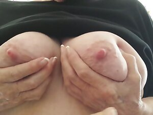 This granny is a bad bad slut with massive hangers