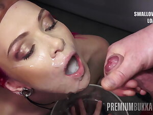 PremiumBukkake - Daniella Ray swallows 74 mouthful cumshots