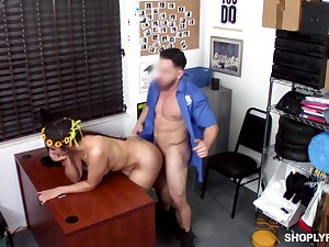 Fucked on high the desk after being caught stealing