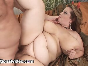A fat woman with a chunky sexual appetite!
