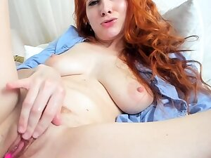One for synonymous close up masturbation for a X redhead