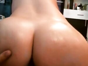 Big ass amateur brunette babe banged overwrought horn-mad pawn man