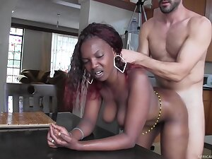 Real African Hooker Fucked and Facialized in excess of Camera