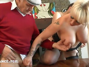 Full-Breasted Tattoed Blond Assfucking Shagged In Hard Think the world of